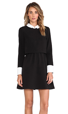 RACHEL ZOE Onyx Collar Dress in Black