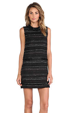 RACHEL ZOE Irland Tweed Dress in Black