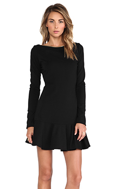 RACHEL ZOE Darcey Drop Waist Dress in Black