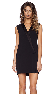 RACHEL ZOE Kendra Collared Shift Dress in Black