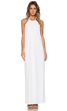 RACHEL ZOE Ira Chain Halter Maxi Dress in White