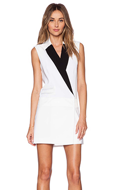 RACHEL ZOE Lusso Suit Dress in Pure White