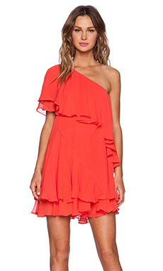 RACHEL ZOE Brunelle Bib Dress in Piscine