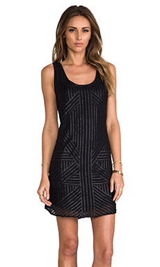 RACHEL ZOE Tilly Sequin Tank Dress in Black