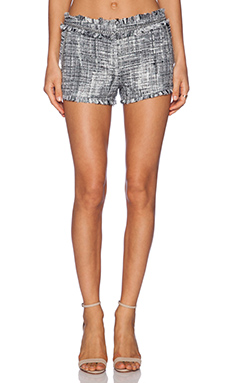 RACHEL ZOE Leti Fringed Shorts in Multi