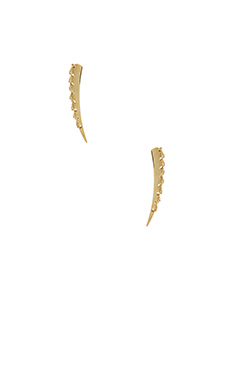 RACHEL ZOE Stitches Linear Post Earring in Gold