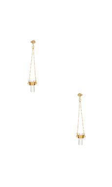 RACHEL ZOE Cut Crystal Drop Earrings in Crystal