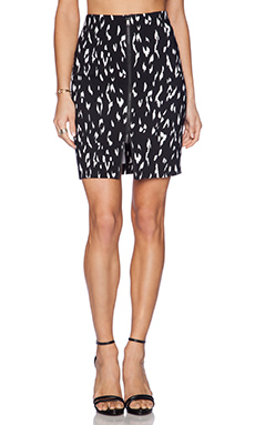 RACHEL ZOE Winona Pencil Skirt in Black & Optic White