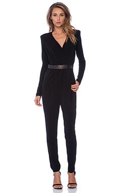 RACHEL ZOE Shiloh Cut Out Jumpsuit in Black