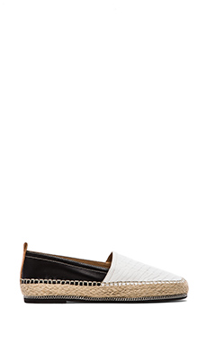 RACHEL ZOE Zella Loafer in Black & White