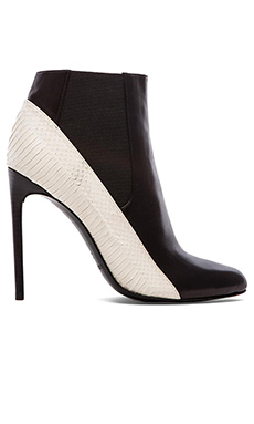 RACHEL ZOE Gael Bootie in Black & White