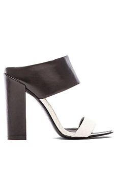 RACHEL ZOE Skyla Heel in Black & White