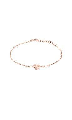 Sachi Diamond Pave Heart Bracelet in Rose Gold