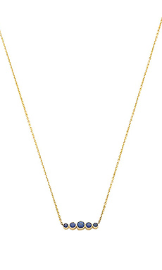 Sachi Graduated Sapphire Necklace in Gold