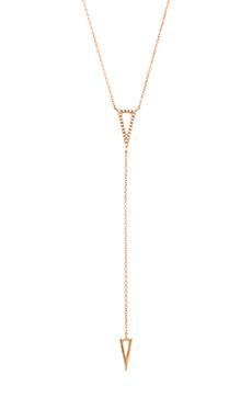 Sachi Triangle Lariat in Rose Gold