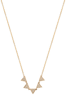 Sachi Multi Triangle Necklace in Gold