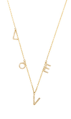 Sachi LOVE Necklace in Gold