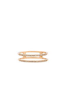 Sachi Double Spiral Ring in Gold
