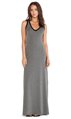 Saint Grace Emerson Contrast Maxi in Ashes with Black Trim
