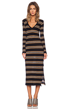 Saint Grace Voyage Long Sleeve Dress in Fino Black