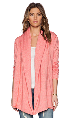 Saint Grace Spring Fleece Cardigan in Coral