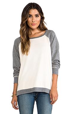 Saint Grace Cotton Fleece Ansel Contrast Sweatshirt in Swiss
