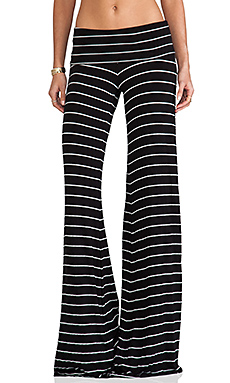 Saint Grace Moby Carol Stripe Pant in Black/White