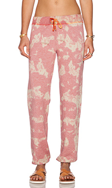 Saint Grace Sam Sweatpant in Coral Sun Wash