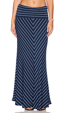 Saint Grace Chevron Maxi Skirt in Liberty & White