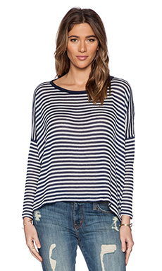 Saint Grace Omega Oversized Top in Liberty & White