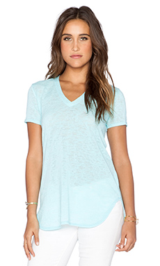 Saint Grace Lax Oversized V Neck Tee in Scuba