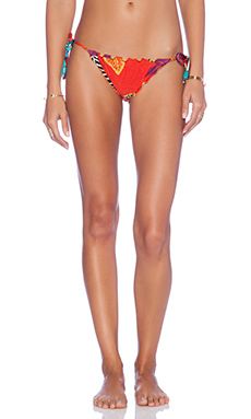 Salinas Califa Bikini Bottom in Red Floral