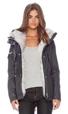 SAM. Mini Highline in Navy & Natural Fox Fur