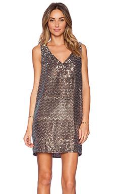 Sam Edelman V-Neck Sequin Dress in Multi