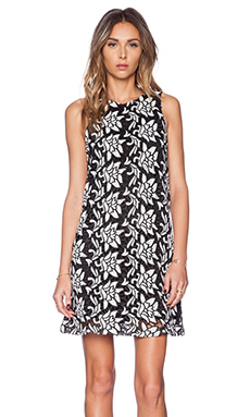 Sam Edelman Dloral Razor Back Cut Out Dress in Black & White