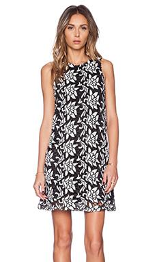 Sam Edelman Dloral Razor Back Cut Out Dress in Black & White