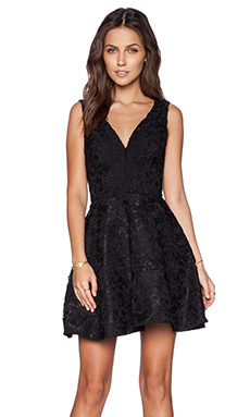 Sam Edelman Lace Plunge Dress in Black