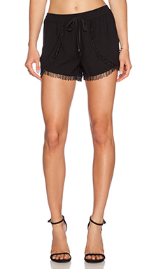 Sam Edelman Fringe Trim Short in Black