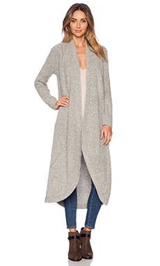 Sam Edelman Mid-Length Pointelle Cardigan in Dove
