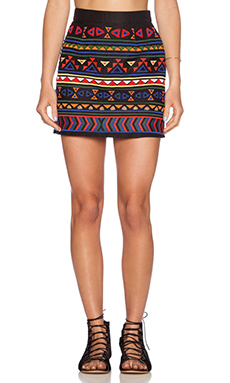 Sam Edelman Beaded Mini Skirt in Black