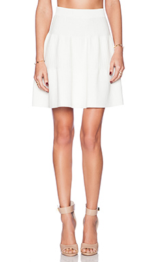 Sam Edelman Ottoman Flare Skirt in White