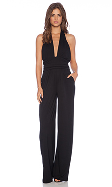 Sam Edelman Cutout Jersey Jumpsuit in Black