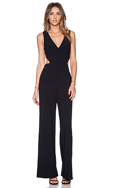 Sam Edelman Deep V Wide Leg Jumpsuit in Black