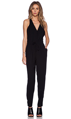 Sam Edelman Cross Back Jumpsuit in Black