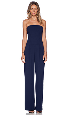 Sam Edelman Strapless Wideleg Jumpsuit in Midnight