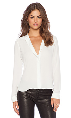 Sam Edelman Pleated Blouse in Ivory