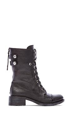 Sam Edelman Darwin Boot in Black Combat Tumbled Leather