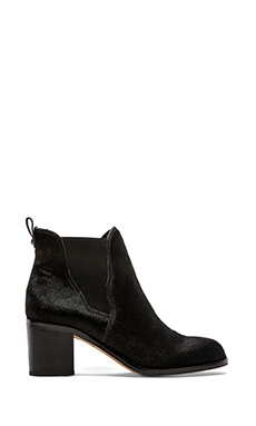 Sam Edelman Justin Bootie with Calf Fur in Black Brahma Hair