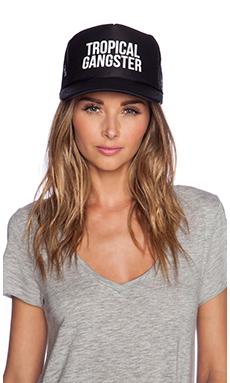 Samudra Tropical Gangster Trucker Hat in Black