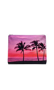 Samudra 3 Coco Palms Pouch in Pink